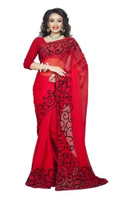RGNRetails Embriodered Daily Wear Georgette Sari