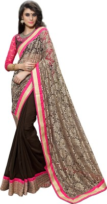 7 Colors Lifestyle Embriodered Fashion Handloom Net Sari