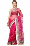Lime Solid Fashion Handloom Net Saree (P...