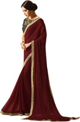 Khantil Plain Fashion Georgette Sari