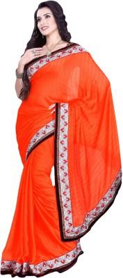 Suchi Fashion Embriodered Fashion Satin Sari