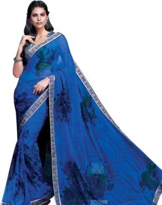 Vivacity Fashion Printed Fashion Handloom Pure Georgette Sari