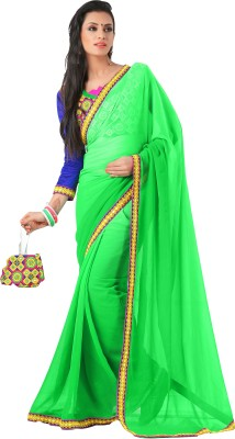FNF Solid Daily Wear Chiffon Sari