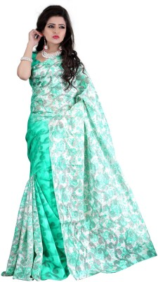 Zombom Printed Fashion Handloom Brasso Sari
