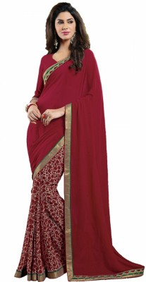 Aakarshanz Embriodered Fashion Pure Georgette Sari