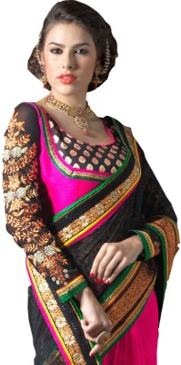 Mert India Embriodered Chanderi Georgette Sari