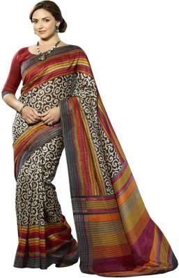Punam Fashion Printed Kantha Poly Silk Sari