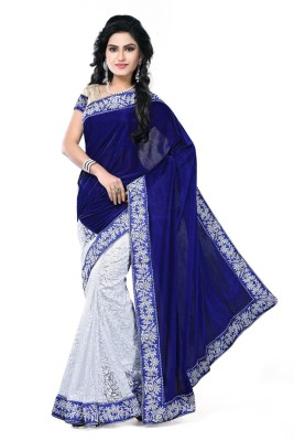 EthnicPark Self Design Fashion Velvet Sari