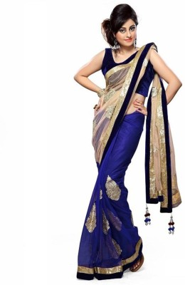 Awesome Fab Self Design Fashion Net Sari