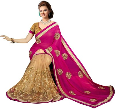 Jenny Embriodered Bollywood Net Sari