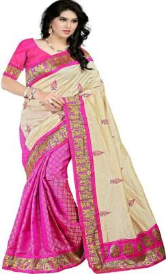 Fashion Hub Sarees Embellished Chanderi Handloom Art Silk Sari
