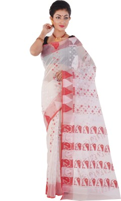 ksc Woven Tant Handloom Cotton Sari