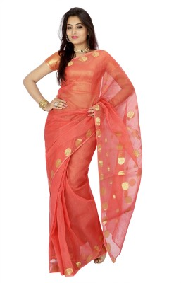 Buy Clues Woven Kota Doria Cotton Sari