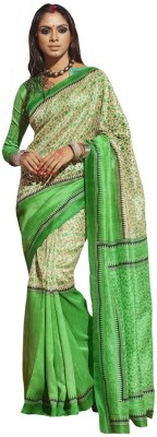 The Ethnic Chic Printed Fashion Silk Sari