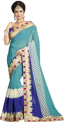 Kintu Designs Pvt. Ltd. Embriodered Fashion Satin Sari