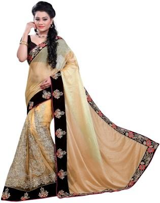 Bano Tradelink Self Design Bollywood Lycra, Net Sari
