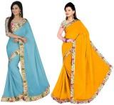 Raag Plain Bollywood Chiffon Saree (Pack...
