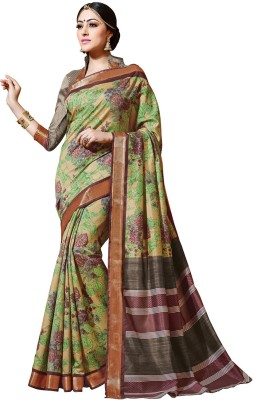 KL COLLECTION Floral Print Bhagalpuri Art Silk Sari
