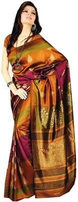 Geordie Floral Print, Self Design Fashion Art Silk Sari