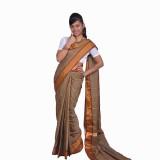 Ethino Self Design Fashion Pure Silk Sar...