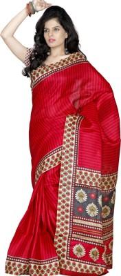 Sheryl Trendz Printed Bhagalpuri Silk Cotton Blend Sari