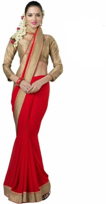 Vansh Exclusive Solid Fashion Georgette Sari