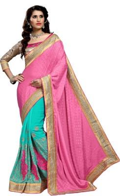 Aasvaa Embriodered Fashion Jacquard Sari