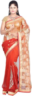 Sri Vari Fashions Embriodered Fashion Synthetic Sari