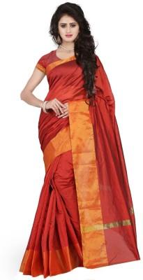 Cozee Shopping Embellished Bollywood Velvet, Net Saree(Red) at flipkart