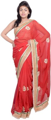 MSS Embriodered Bollywood Chiffon Sari