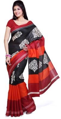 MatindraEnterprise Printed Bhagalpuri Silk Sari