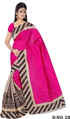 India Bulks Geometric Print Bhagalpuri Handloom Art Silk Sari