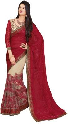 Fashion Forever Self Design, Embriodered Fashion Brasso, Net Sari