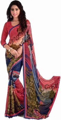 Shilpkar Floral Print Fashion Synthetic Sari