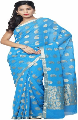 Rajshrifashions Plain Mysore Handloom Art Silk Sari