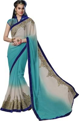 Moh Manthan Self Design Fashion Chiffon, Shimmer Fabric Sari