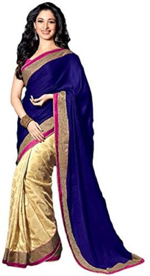 AKSH FASHION Embriodered Fashion Jacquard Sari