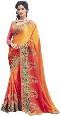 Trisha designs Embellished Bollywood Satin Sari