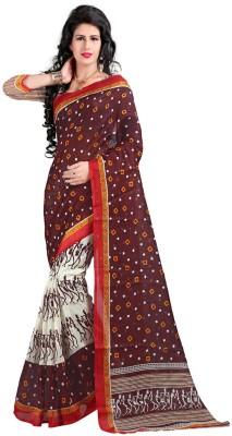 Fancy Sarees Printed Bhagalpuri Art Silk Sari(Multicolor)