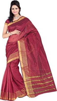 Mamta Sarees Striped Fashion Silk Cotton Blend Sari