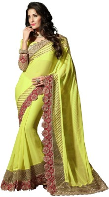 Kavita Fashion Embriodered, Embellished Fashion Handloom Georgette Sari