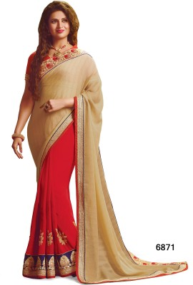 Sarees House Self Design, Embriodered Bollywood Pure Georgette, Pure Chiffon Sari