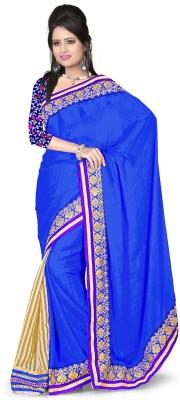 Aanchal Fashion Solid Fashion Jacquard Sari