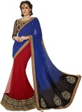 Odhni Embroidered Bollywood Georgette, N...