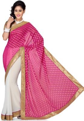 Deepika Couture Solid Bollywood Chiffon, Jacquard Sari