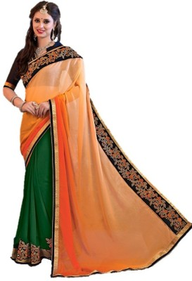 Vani Creations Embriodered Fashion Georgette Sari