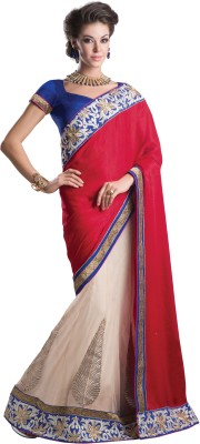Urjita Creations Self Design Fashion Polycotton Sari