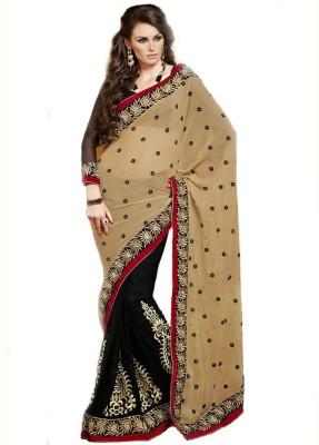 First Lady Self Design Fashion Handloom Georgette Sari