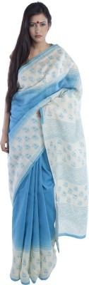 Kiara Crafts Printed Daily Wear Handloom Chanderi Sari