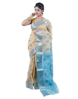 Rudrakshhh Dhakai Embriodered Tangail Handloom Cotton Sari